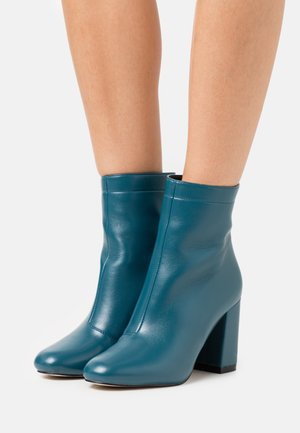 ALMIRA - High heeled ankle boots - blue