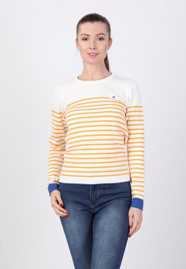 Sweater - ecru mustard