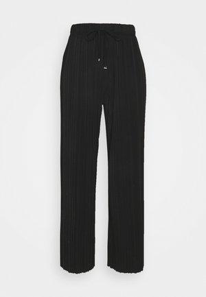 TIE WAIST TROUSER - Trousers - black