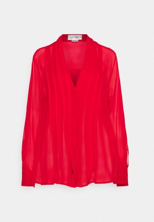 FRILL DETAIL SHIRT - Blouse - red