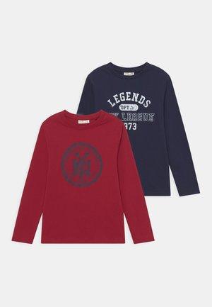 KID 2 PACK - Long sleeved top - dark blue/red