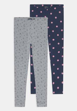 KIDS GIRLS  - Leggings - Trousers - dark blue/mottled grey