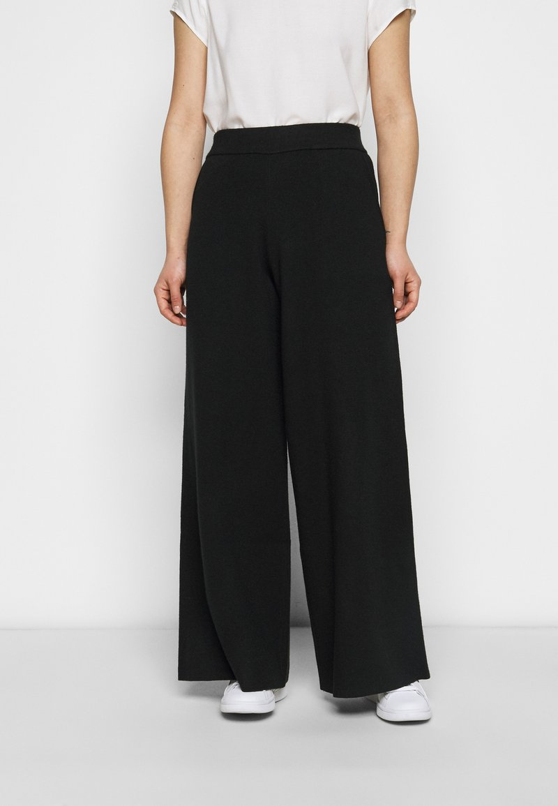 Banana Republic Petite - WIDE LEG - Trousers - black