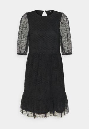 ONLETTA 3/4 PUFF DRESS  - Korte jurk - black