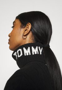 Tommy Jeans - TURTLE NECK DRESS - Strikket kjole - black - 5