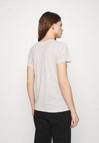 American Vintage - JACKSONVILLE ROUND NECK - Basic T-shirt - creme chine - 2