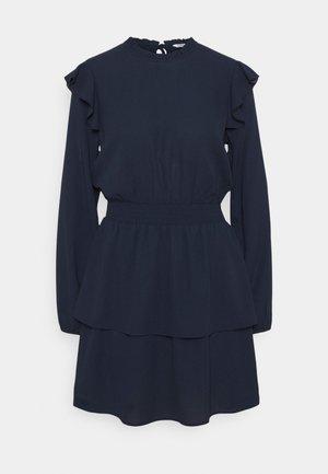 ONLEDEN FRILL DRESS - Day dress - navy
