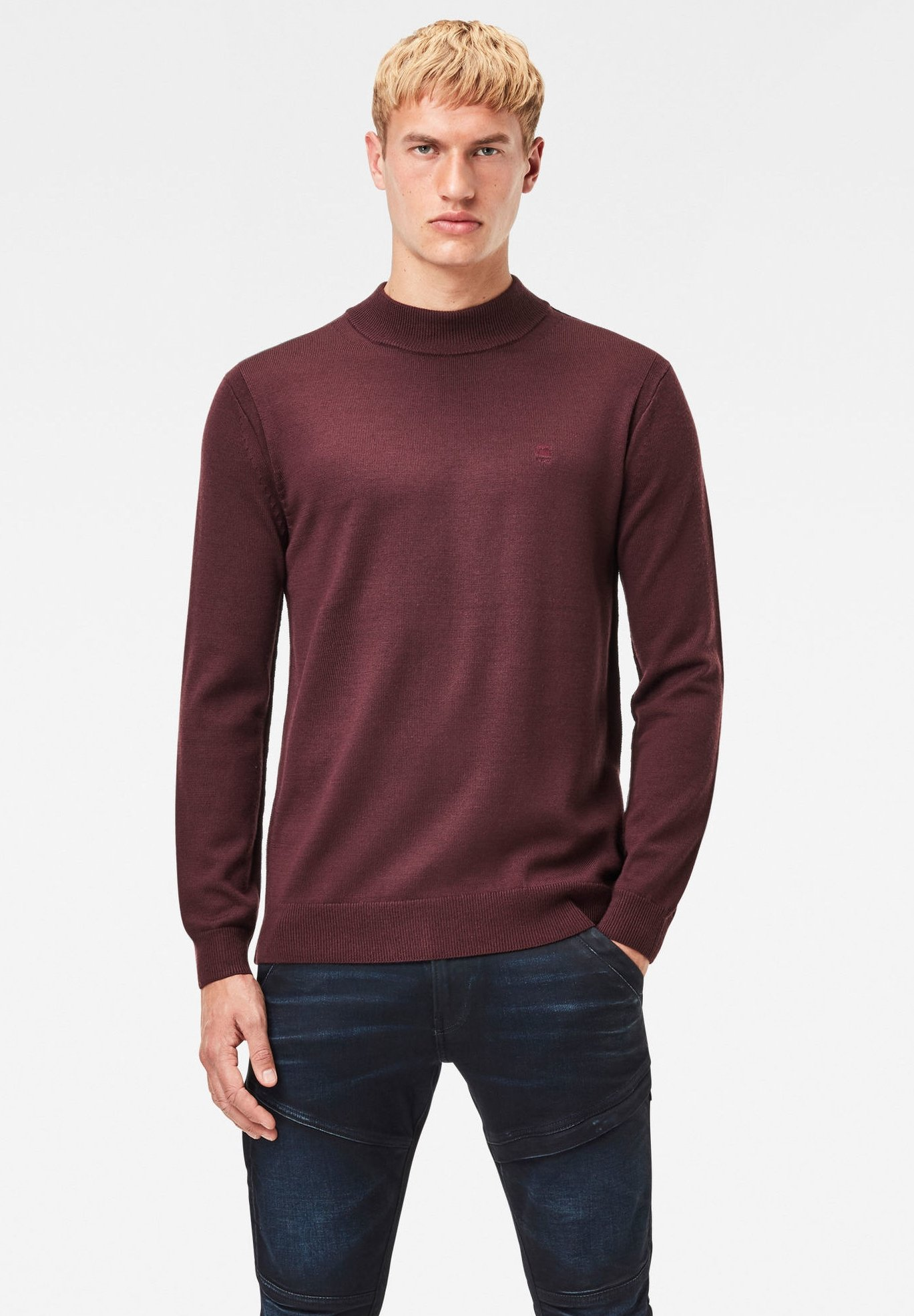 Homme PREMIUM CORE MOCK TURTLE LONG SLEEVE - Pullover
