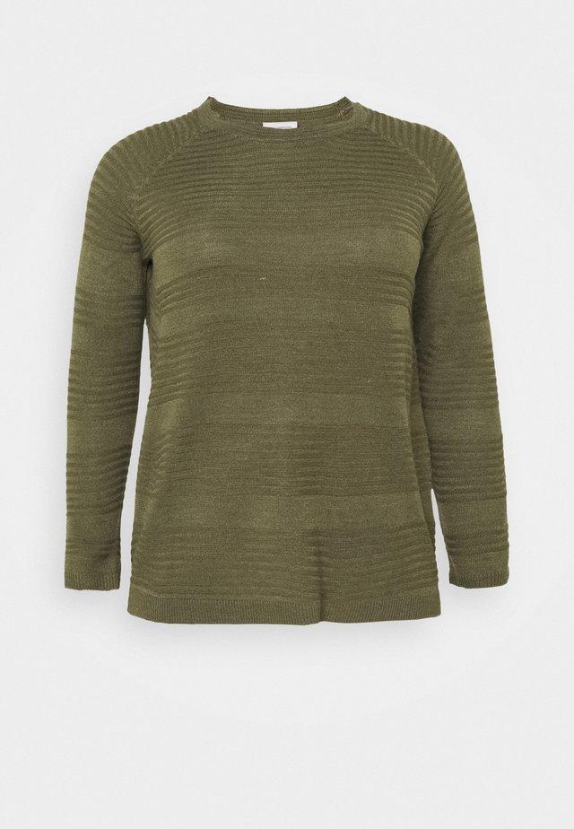 CARAIRPLAIN PULLOVER - Sweter - kalamata