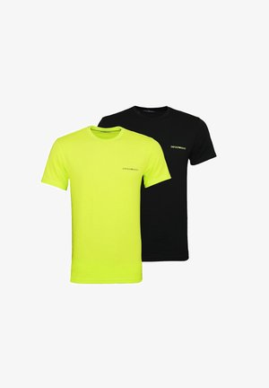 2 PACK  - Basic T-shirt - neon green/black