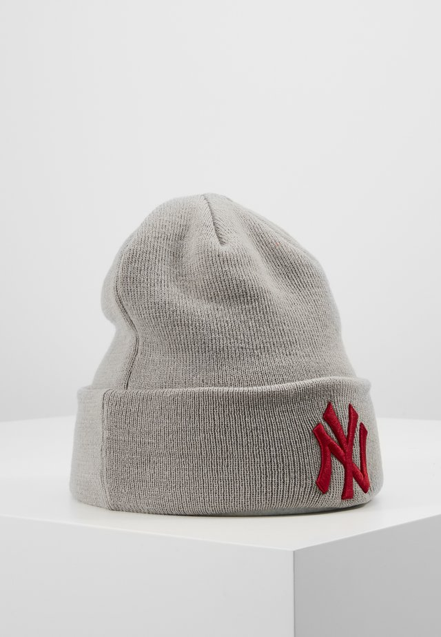 KIDS LEAGUE ESSENTIAL CUFF - Bonnet - grey/red