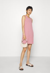 Madewell - HIGHPOINT TANK DRESS IN STRIPE - Jersey dress - weathered berry - 1