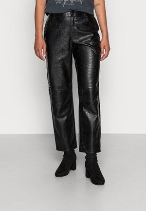 LISSY PANTS - Pantalones - black