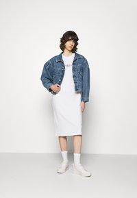 Calvin Klein - LOGO DRESS - Jersey dress - bright white - 1