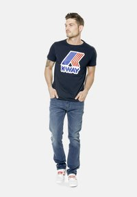 K-Way - PETE MACRO - Print T-shirt - deep blue - 1