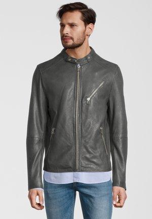 Leather jacket - shocked olive