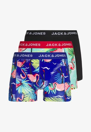 JACSKULL ANIMALS TRUNKS 3 PACK - Culotte - surf the web/firey red /black