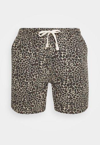 LEOPARD DRAWSTRING - Shorts - brown