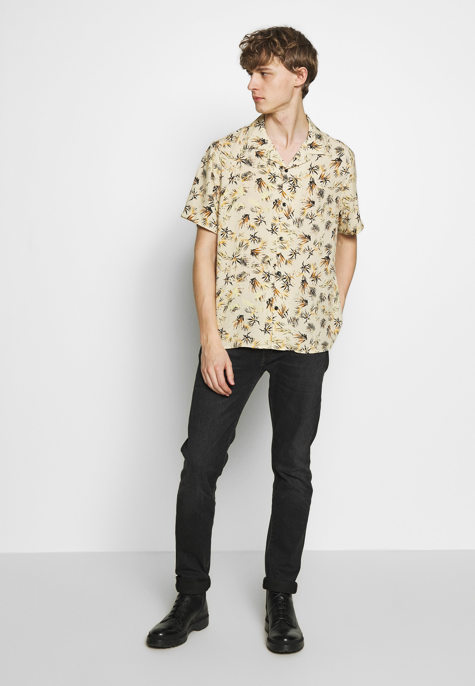 The Kooples LEAVES CHEMISE - Chemise - camel/red