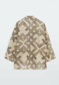 Massimo Dutti - Button-down blouse - beige - 6