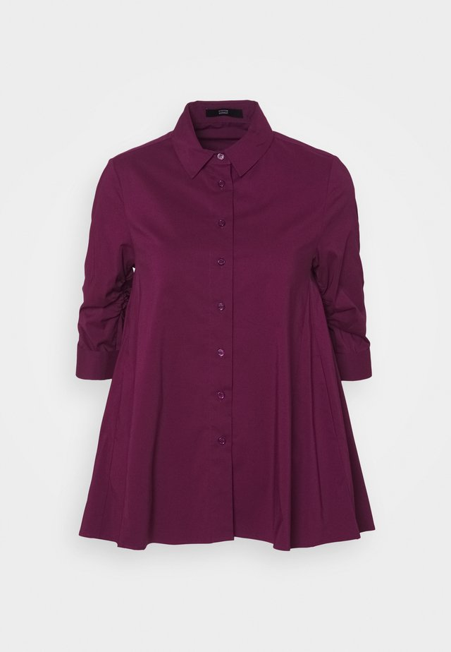BENITA FASHIONABLE BLOUSE - Button-down blouse - wild berry