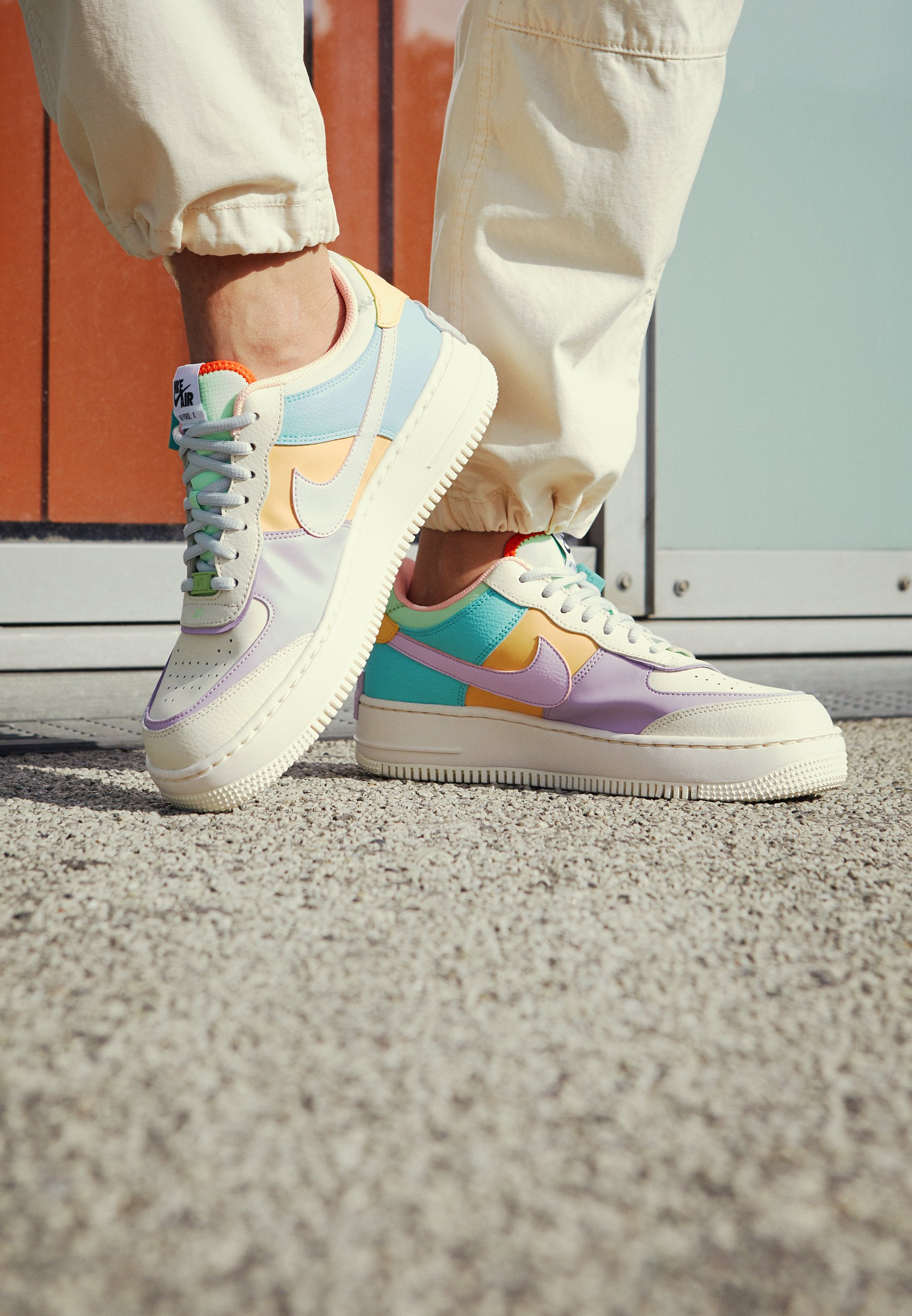 AIR FORCE 1 SHADOW - Baskets basses - pale ivory/celestial gold/tropical  twist