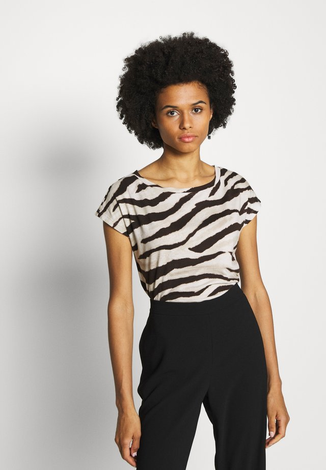 UPTOWN  - T-shirt imprimé - dark brown multi