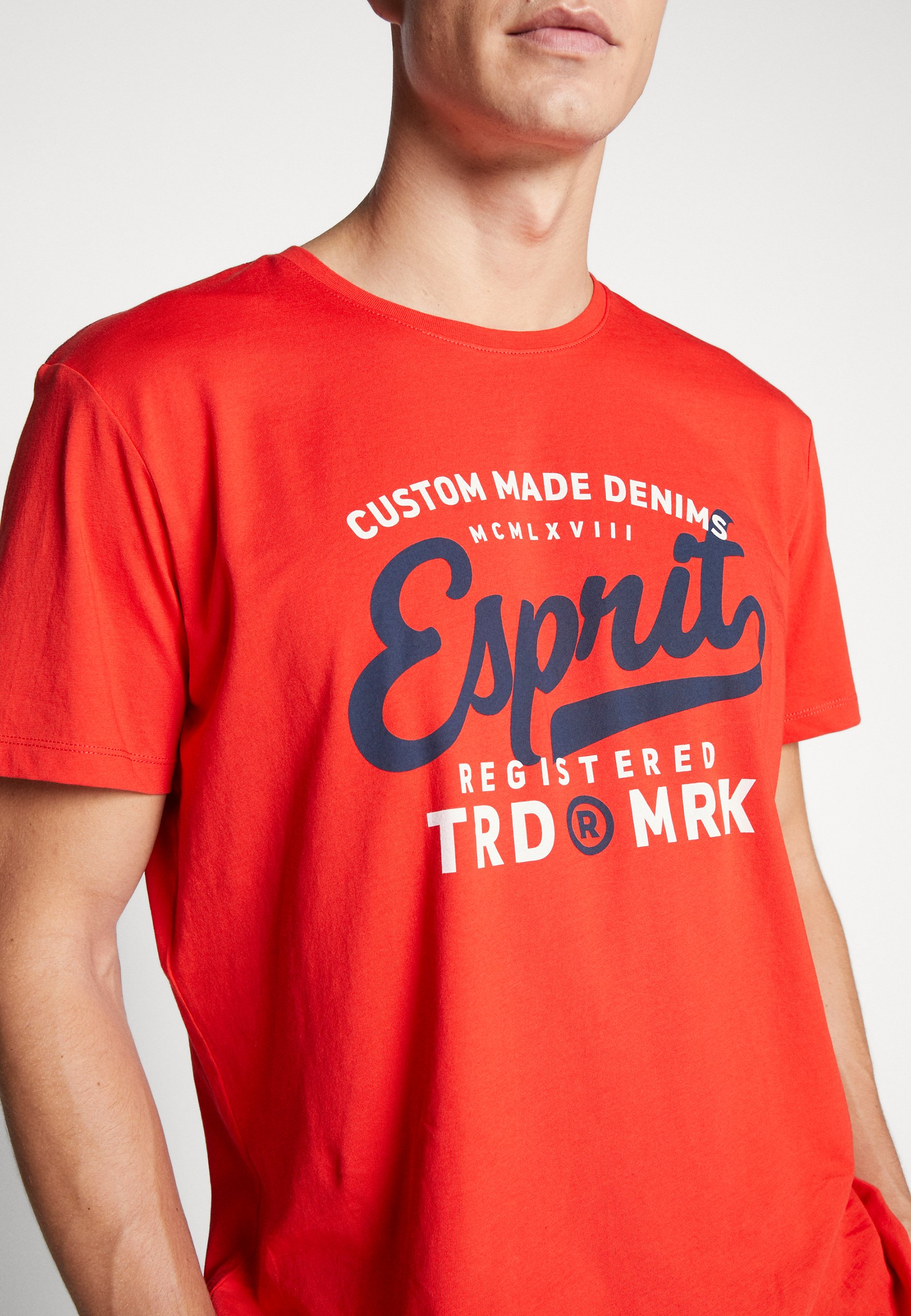 Esprit Print T-shirt - orange red buFik