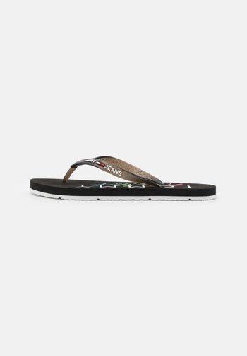 THONG BEACH - T-bar sandals - black