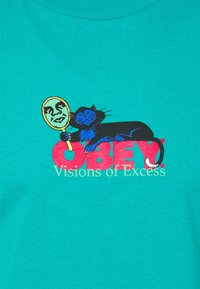 Obey Clothing - VISIONS OF EXCESS - Printtipaita - teal - 2