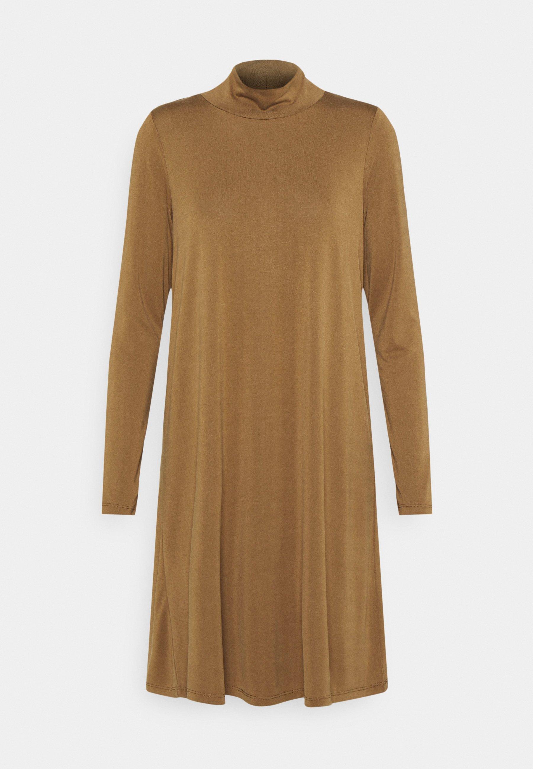 Women OBJANNIE HIGHNECK DRESS TALL - Jersey dress