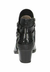 Caprice - STIEFELETTE - Korte laarzen - black comb - 4