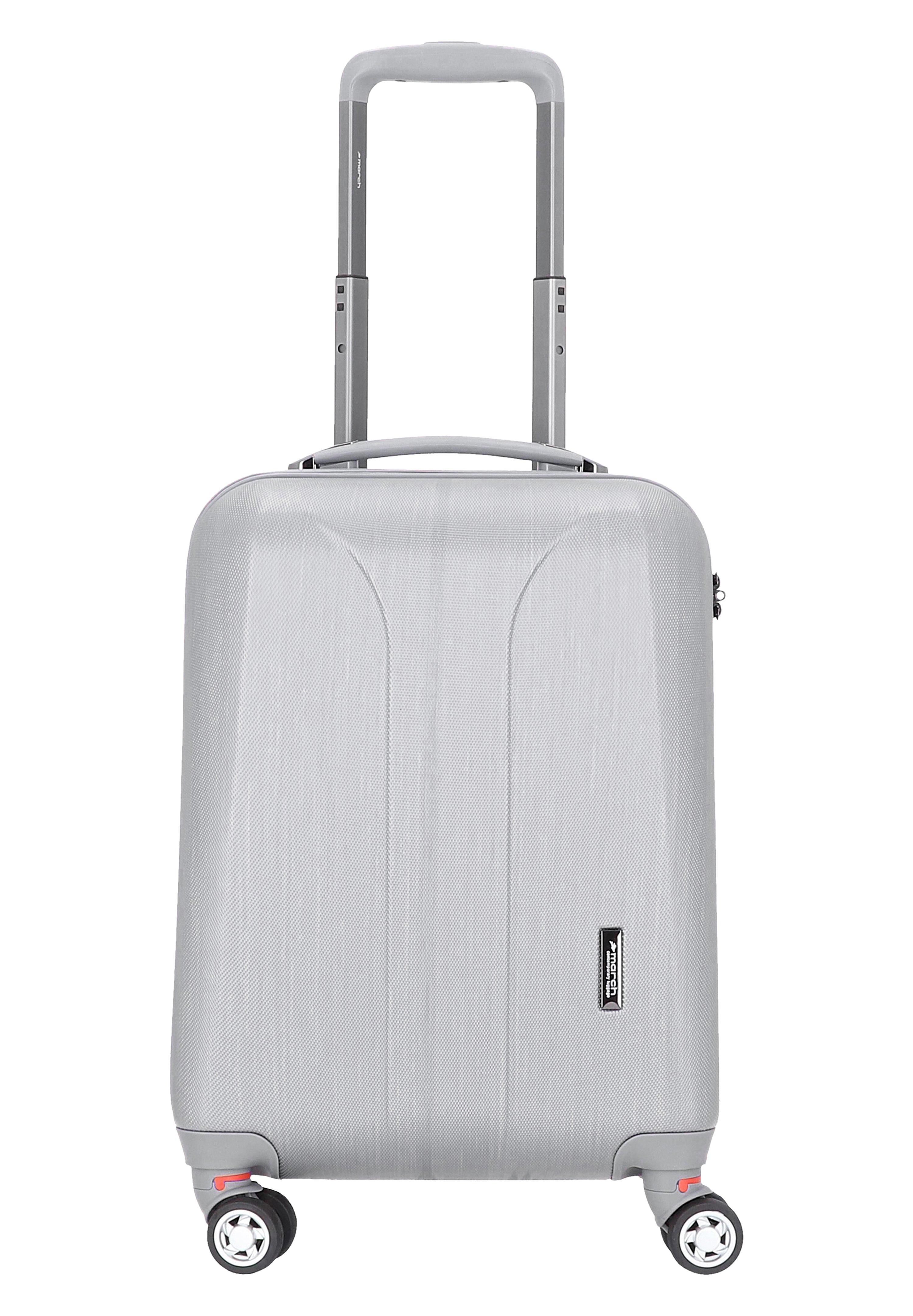 March Luggage Trolley - Silver Brushed/grau