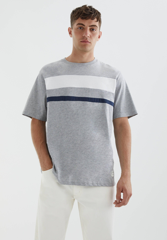 Uomo DOPPELTEM COLOUR-BLOCK - T-shirt con stampa