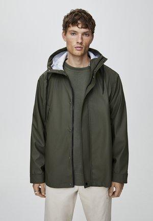 Waterproof jacket - dark green