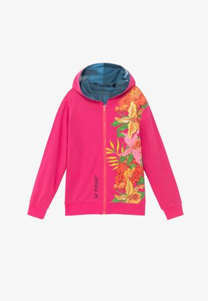 FLORA - Zip-up hoodie - red