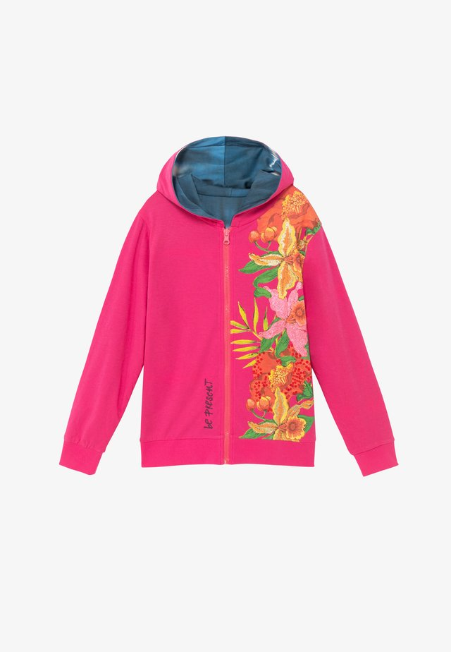 FLORA - veste en sweat zippée - red