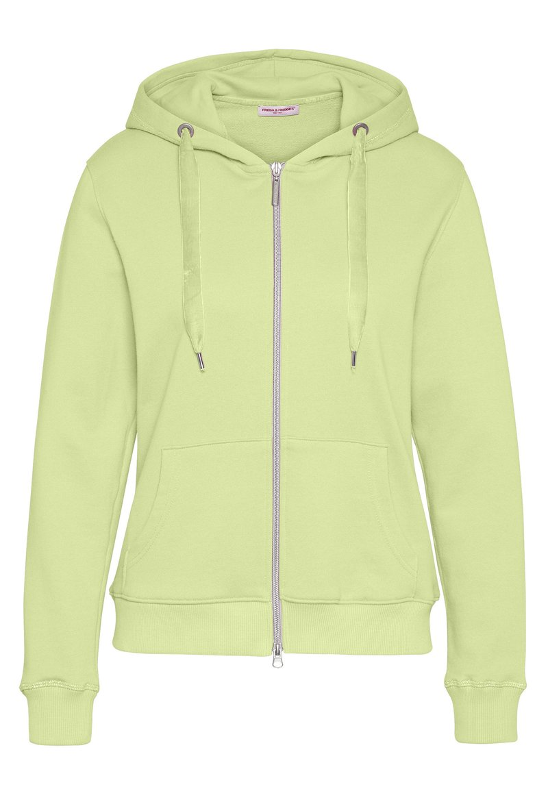 Frieda & Freddies - SWEAT JACKET - Zip-up hoodie - lime green