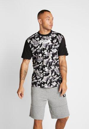 REBEL CAMO TEE - Camiseta estampada - black
