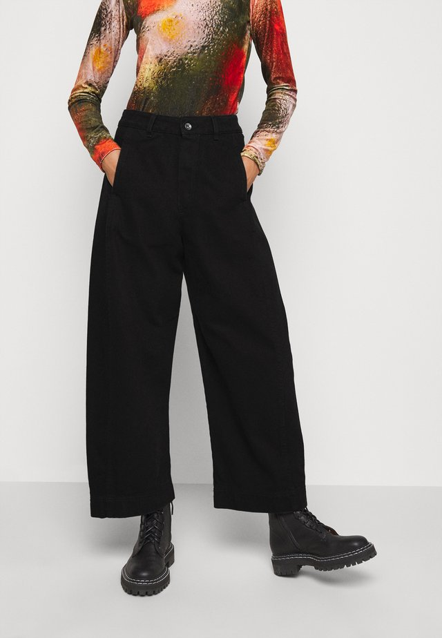 SPONGE PANTS - Jeansy Relaxed Fit - black