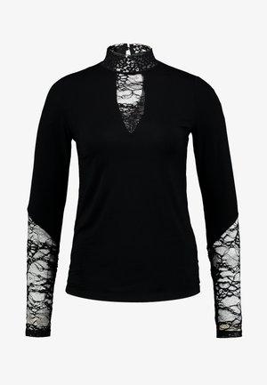 BLOUSE - Top sdlouhým rukávem - black
