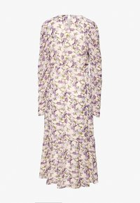 Missguided Tall - PUFF SLEEVE RUFFLE HEM MIDI SMOCK DRESS FLORAL - Day dress - cream - 1
