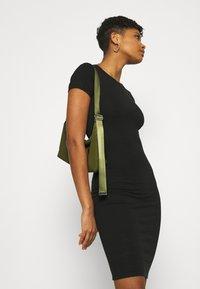 Cotton On - ESENTIAL SHORT SLEEVE BODYCON MIDI DRESS - Shift dress - black - 3