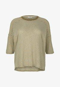 MY TRUE ME TOM TAILOR - MIT STREIFEN - Long sleeved top - ecru umber stripe - 5