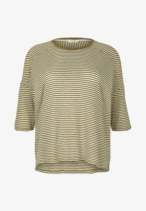 MIT STREIFEN - Pitkähihainen paita - ecru umber stripe