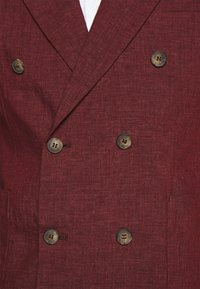 Frescobol Carioca - UNSTRUCTURED DOUBLE BREASTED - Suit jacket - dark red - 7