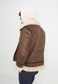 Alpha Industries - Faux leather jacket - brown - 2