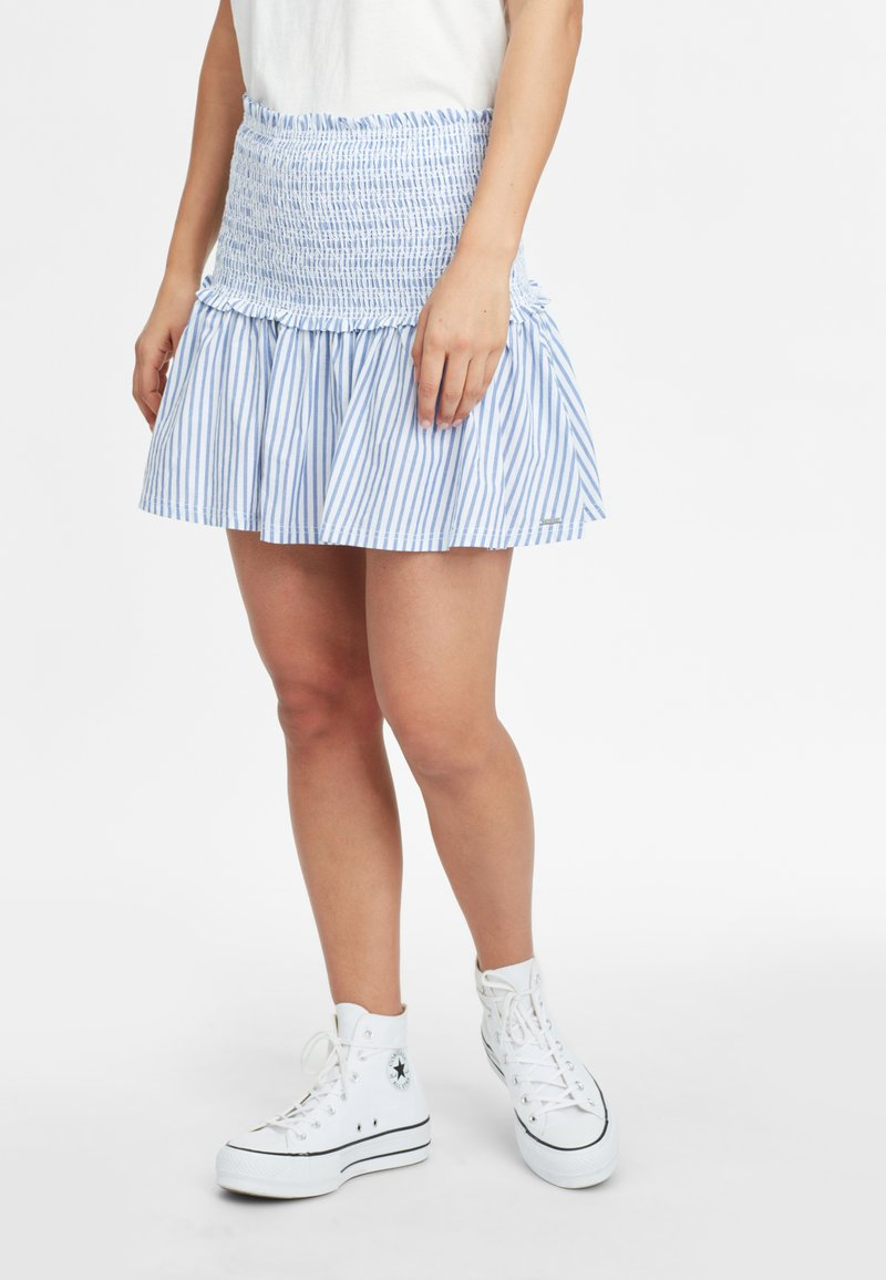 O'Neill - Pleated skirt - blue with white
