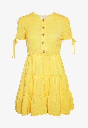 TIERRED DRESS - Shirt dress - yellow