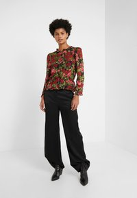 The Kooples - CHEMISE - Button-down blouse - black/red - 1